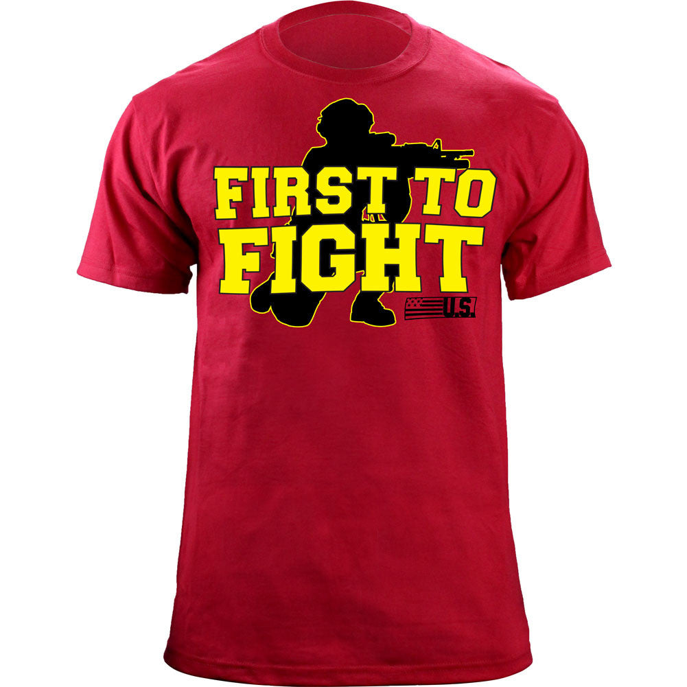 First to Fight T-Shirt - Red