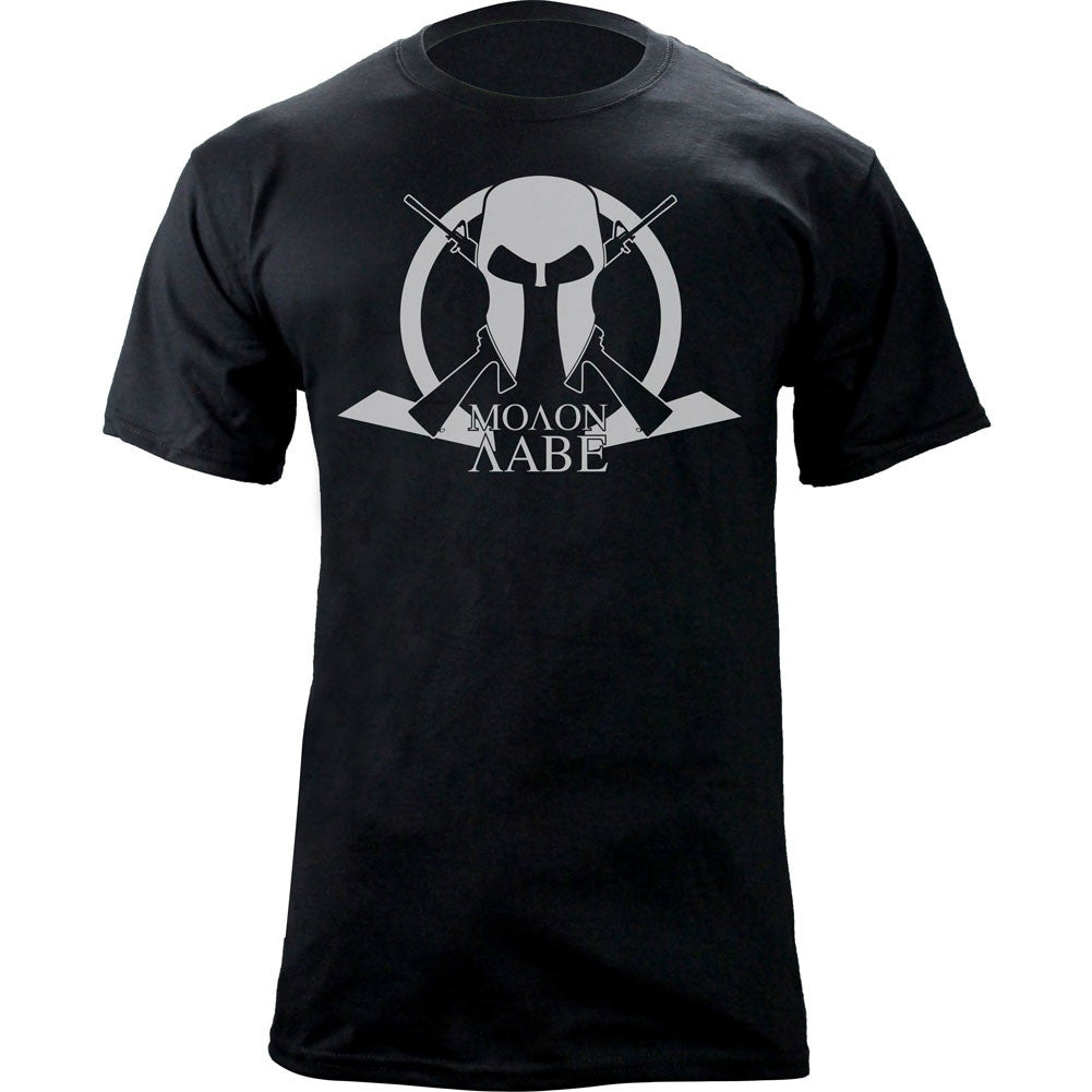Molon Labe Cross Arms T-Shirt - Black