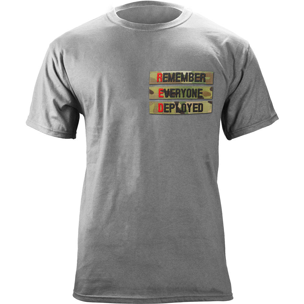 Remember Everyone Deployed Nametape T-Shirt - Heather Grey