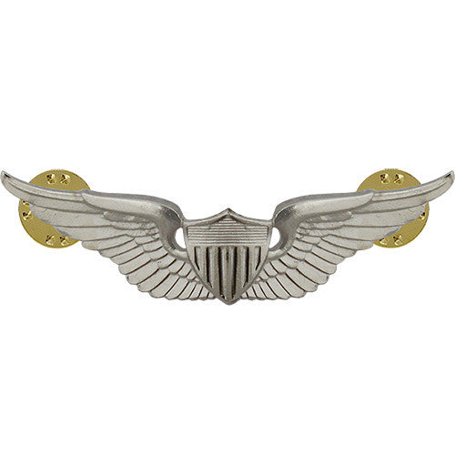 U.S. Army   Aviator Badge - Nickel Finish
