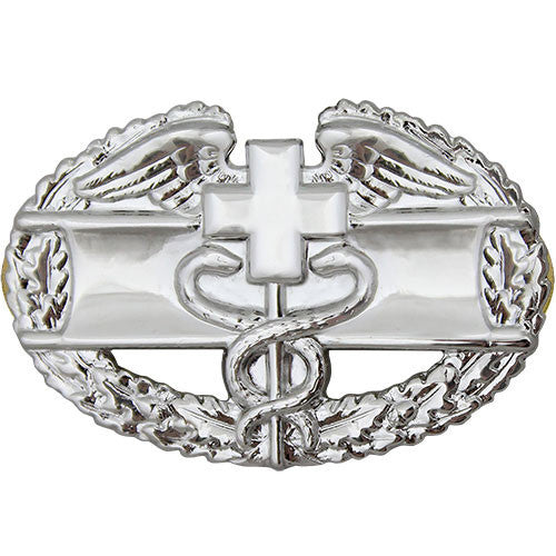 Army Combat Medical Badge 1st Award - Mirror / Chrome