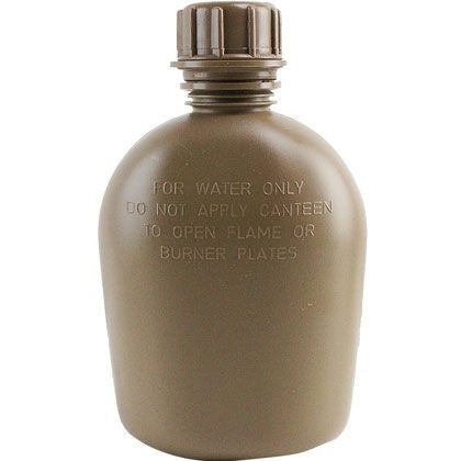 Genuine G.I. 3-Piece 1-Quart Coyote Plastic Canteen