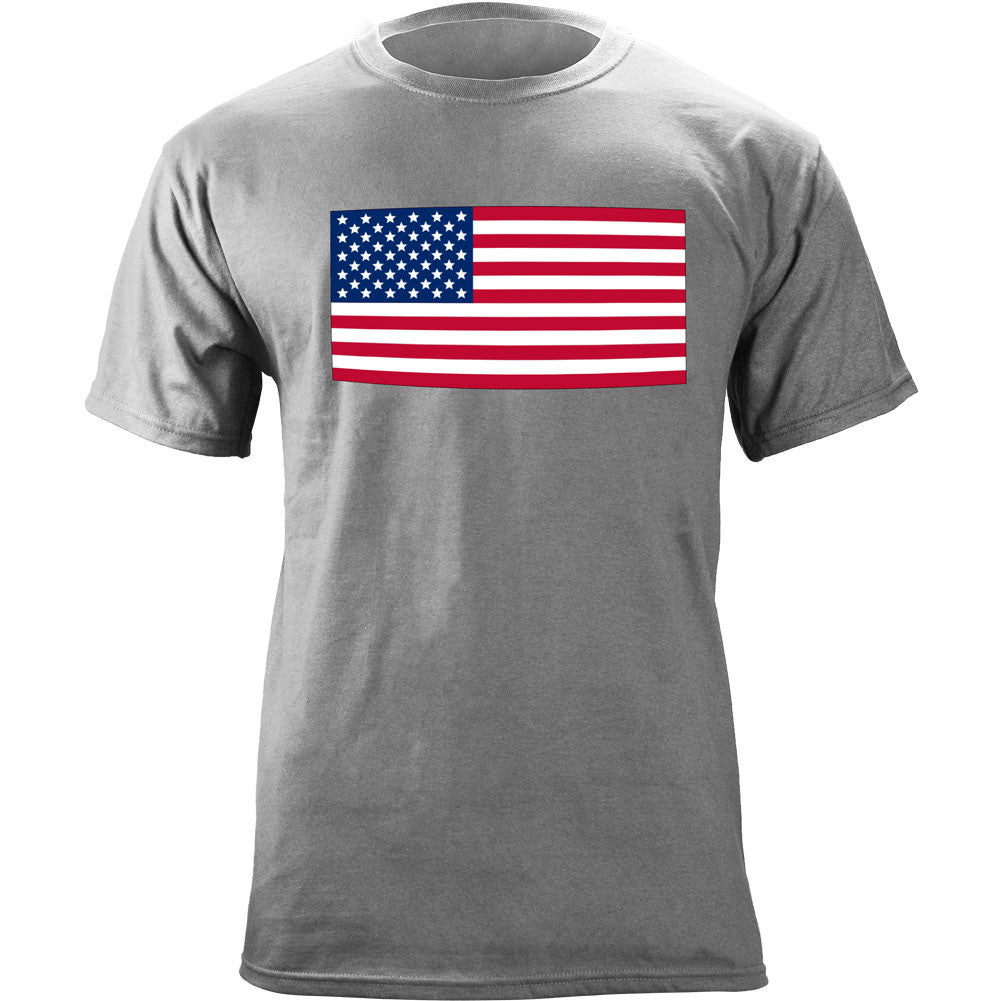 Classic American Flag T-Shirt - Heather Grey