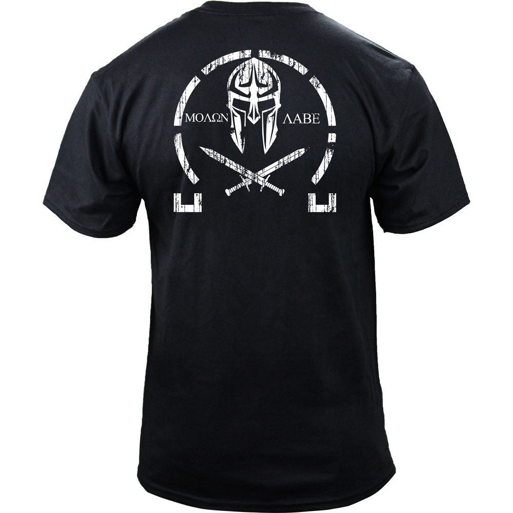 Molon Labe Distressed Black Back