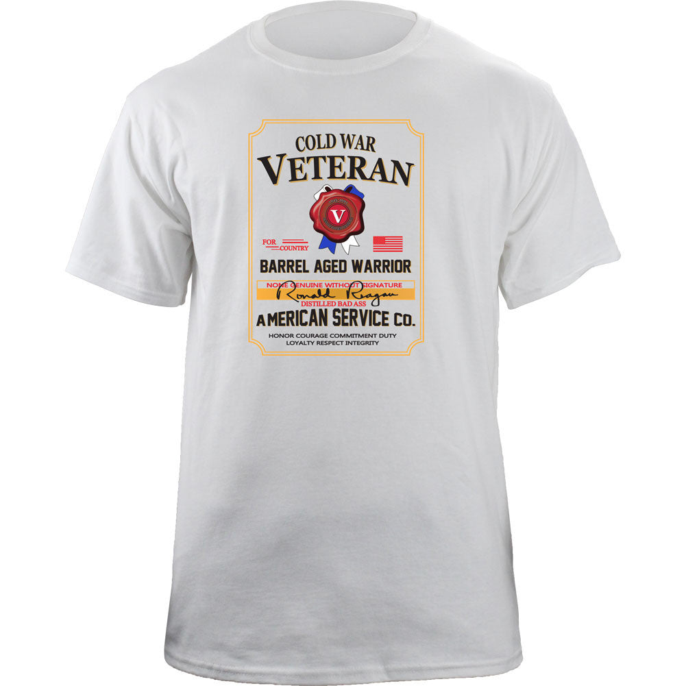 Cold War Veteran Whiskey Label T-Shirt