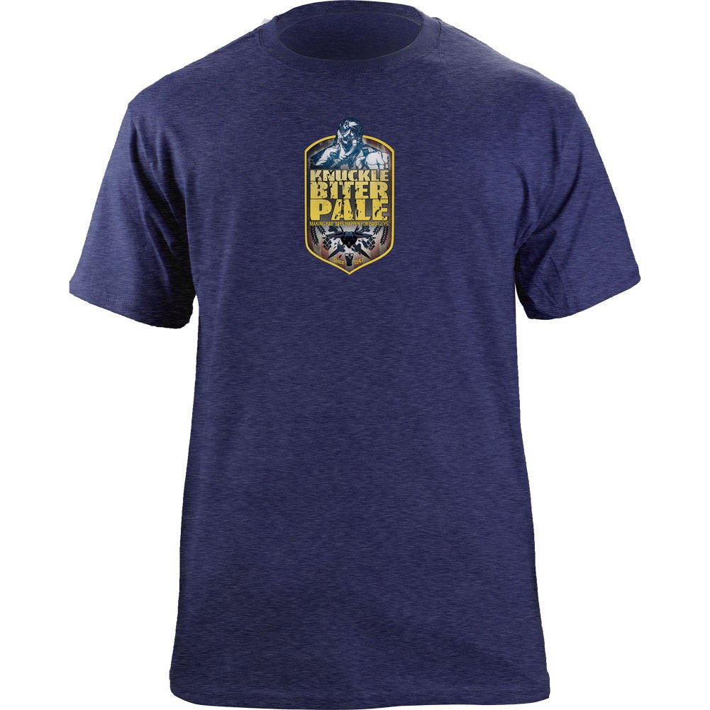 Air Force Knucklebiter Pale Ale T-Shirt - Blue Premium Tri-Blend