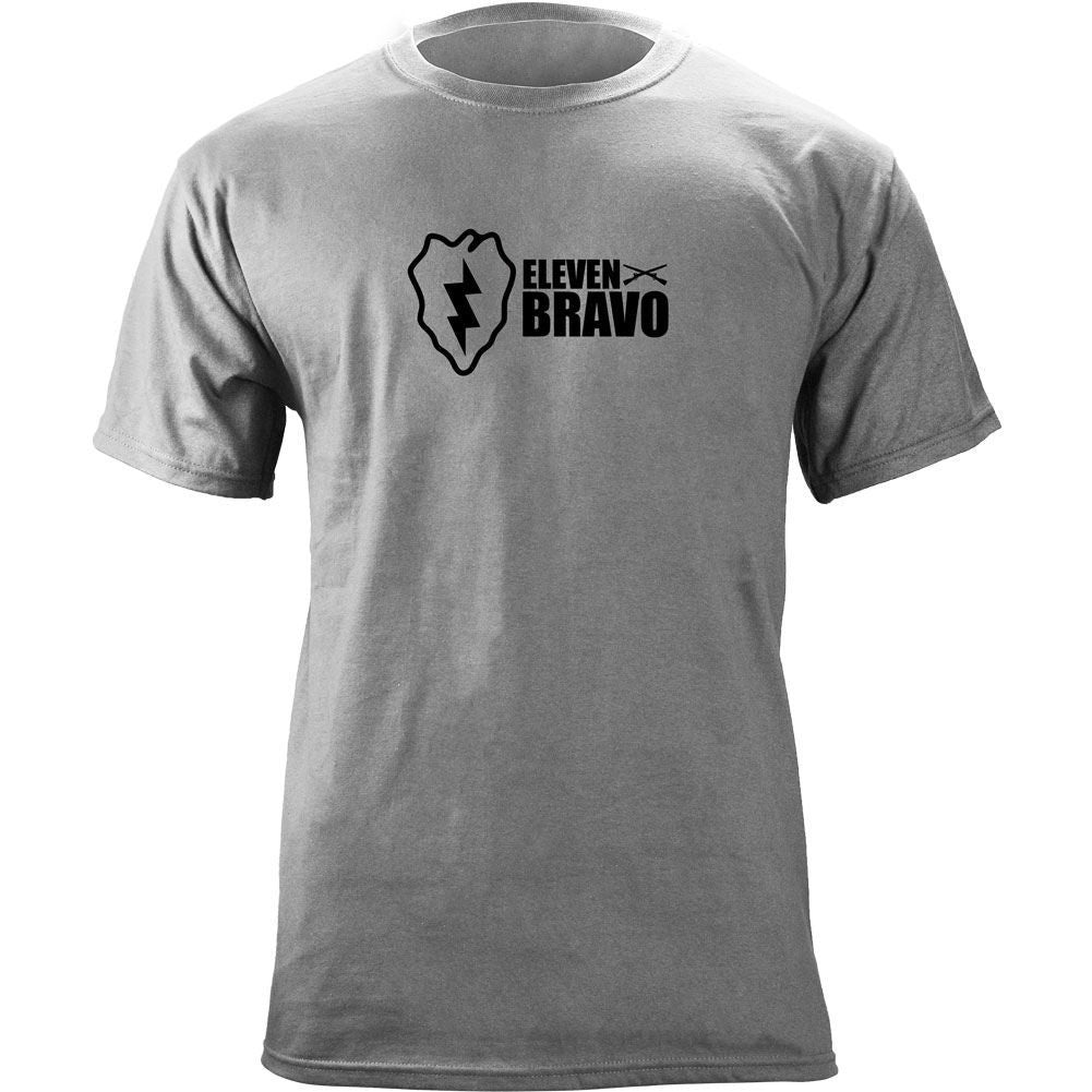 25th Infantry 11 Bravo T-Shirt Heather Grey