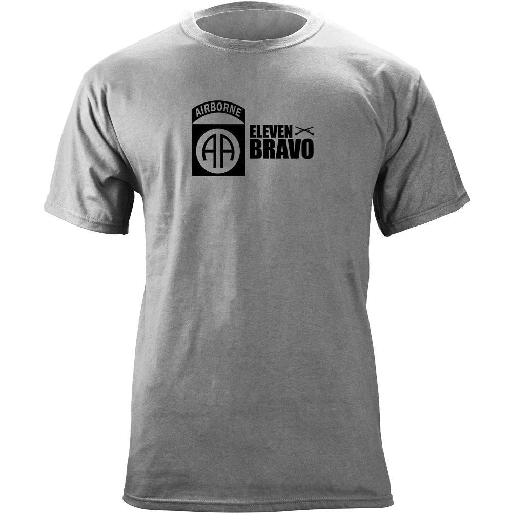 82nd Airborne 11 Bravo T-Shirt Heather Grey