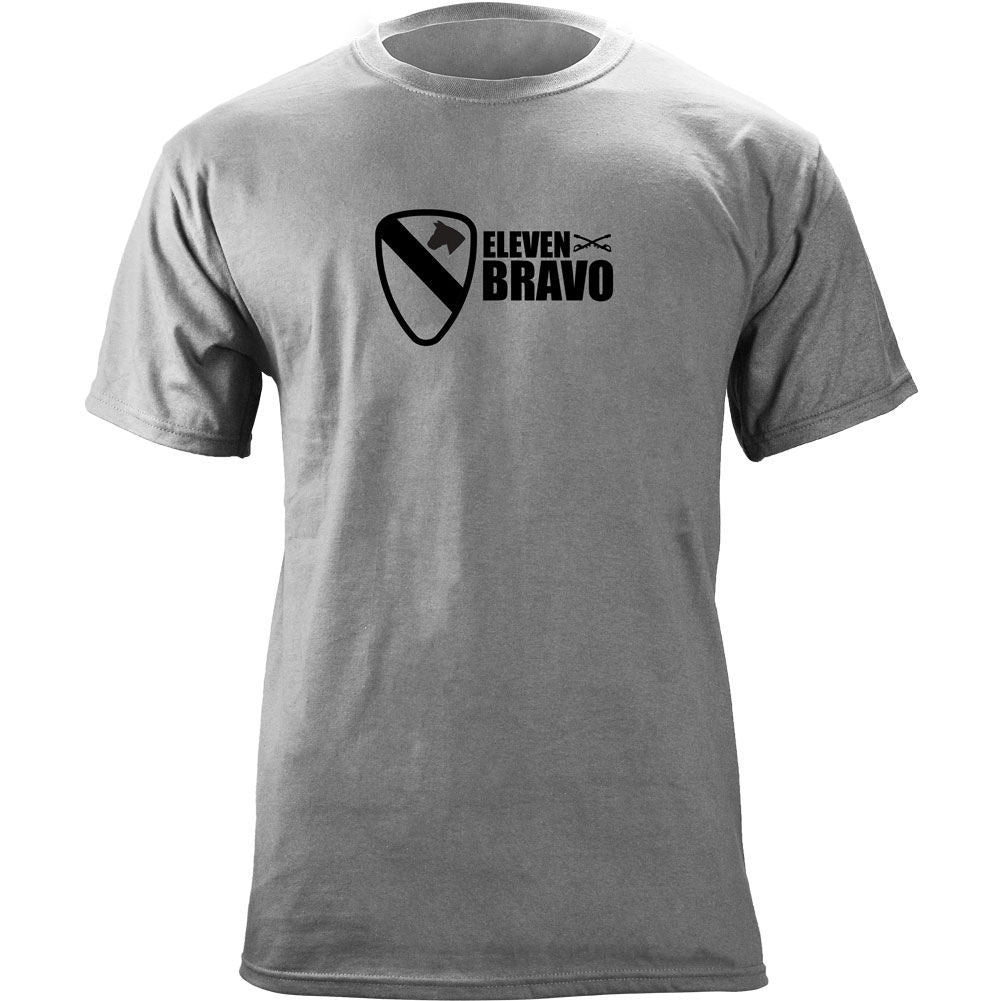 1st Cavalry 11 Bravo T-Shirt Heather Grey