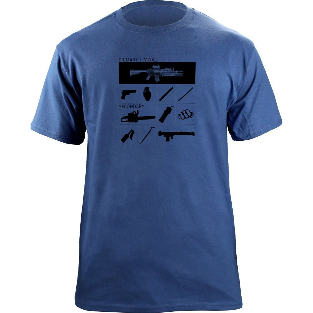 Weapons Inventory T-Shirt - Denim