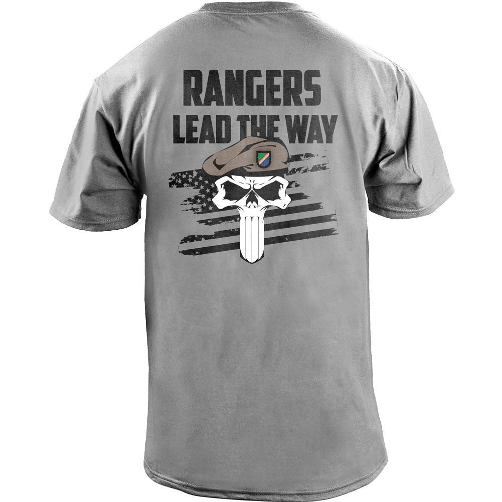 Rangers Lead The Way Skull T Shirt Acu Army