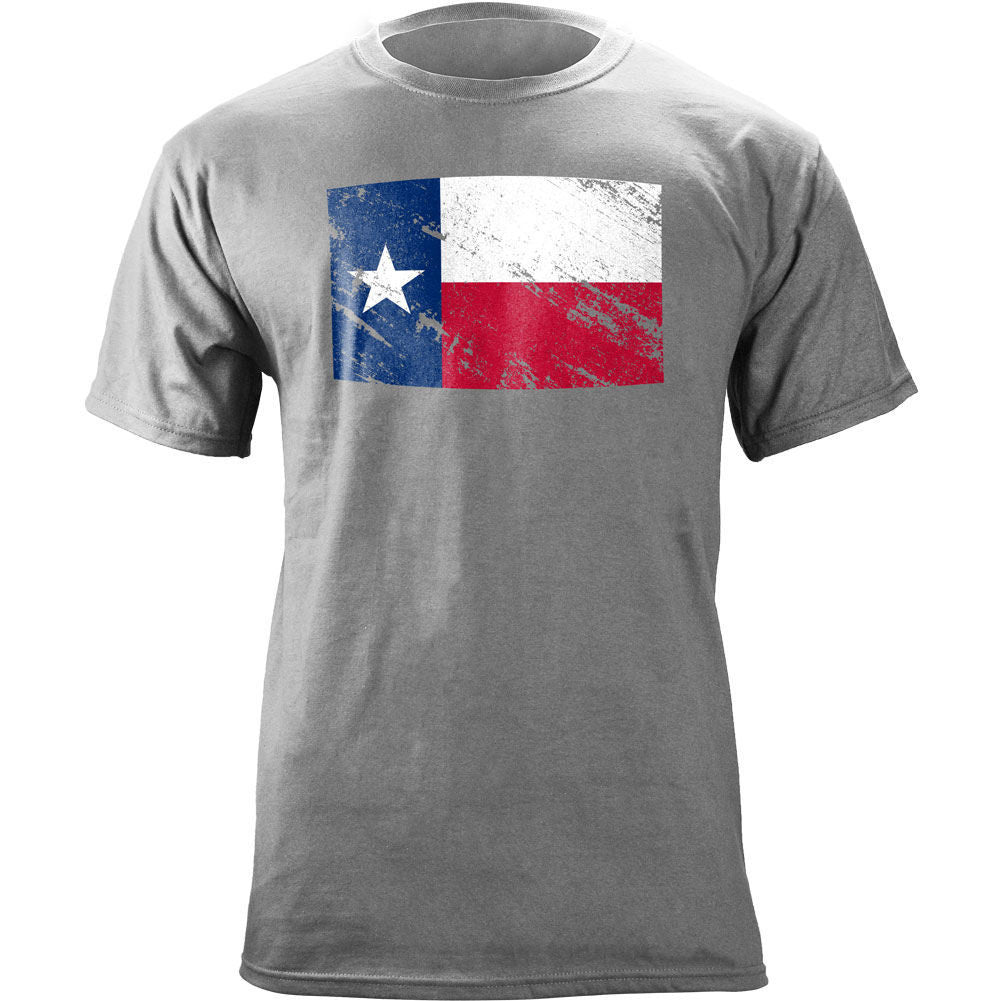 Vintage Texas Flag Distressed T-Shirt - Heather Grey