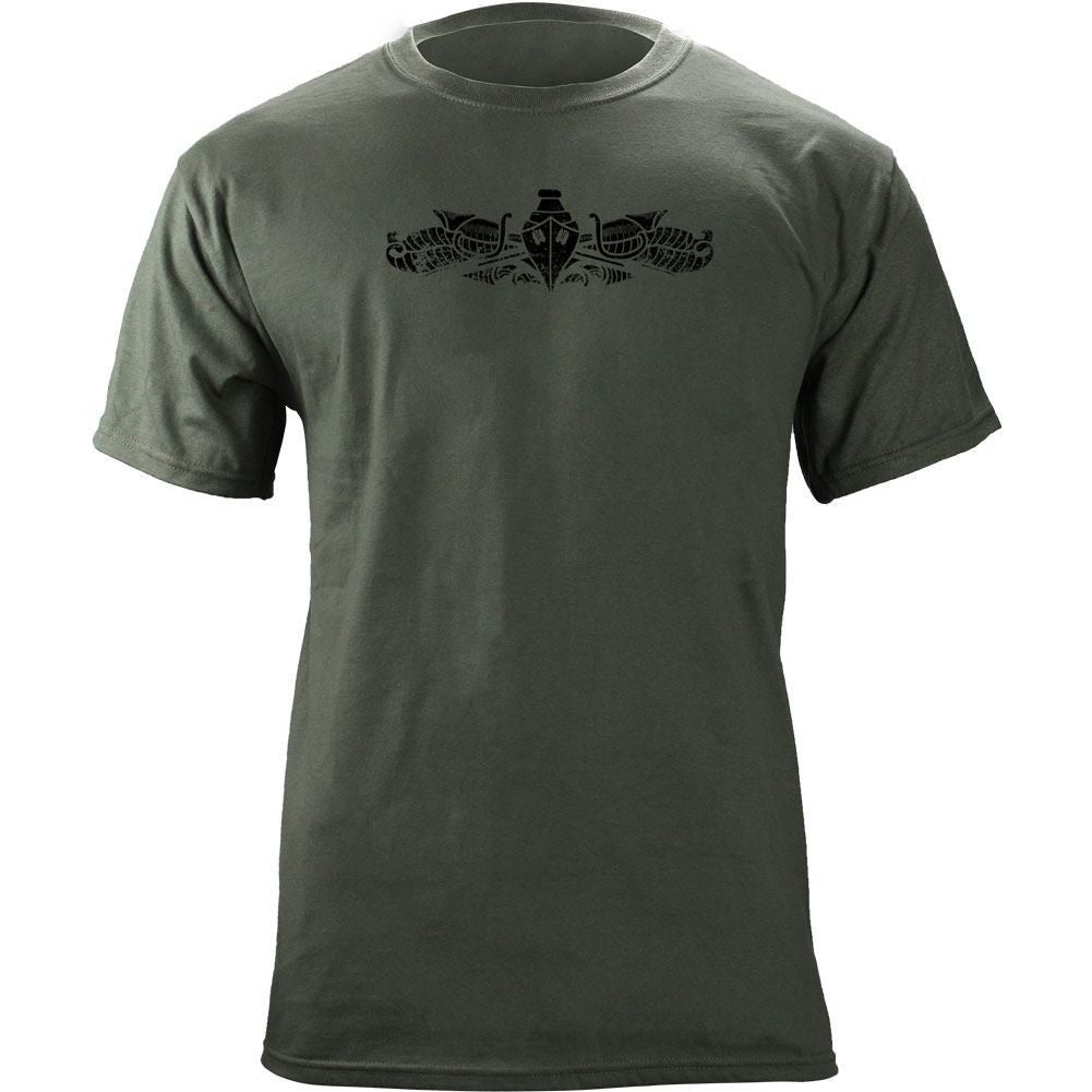 Subdued Surface Warfare Badge T-Shirt - Foliage Green