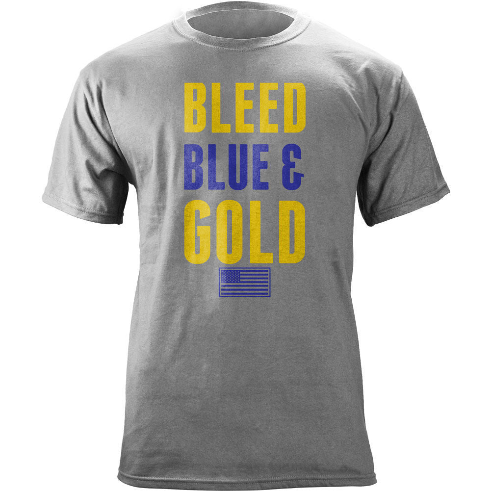 Navy Bleed Blue and Gold T-Shirt