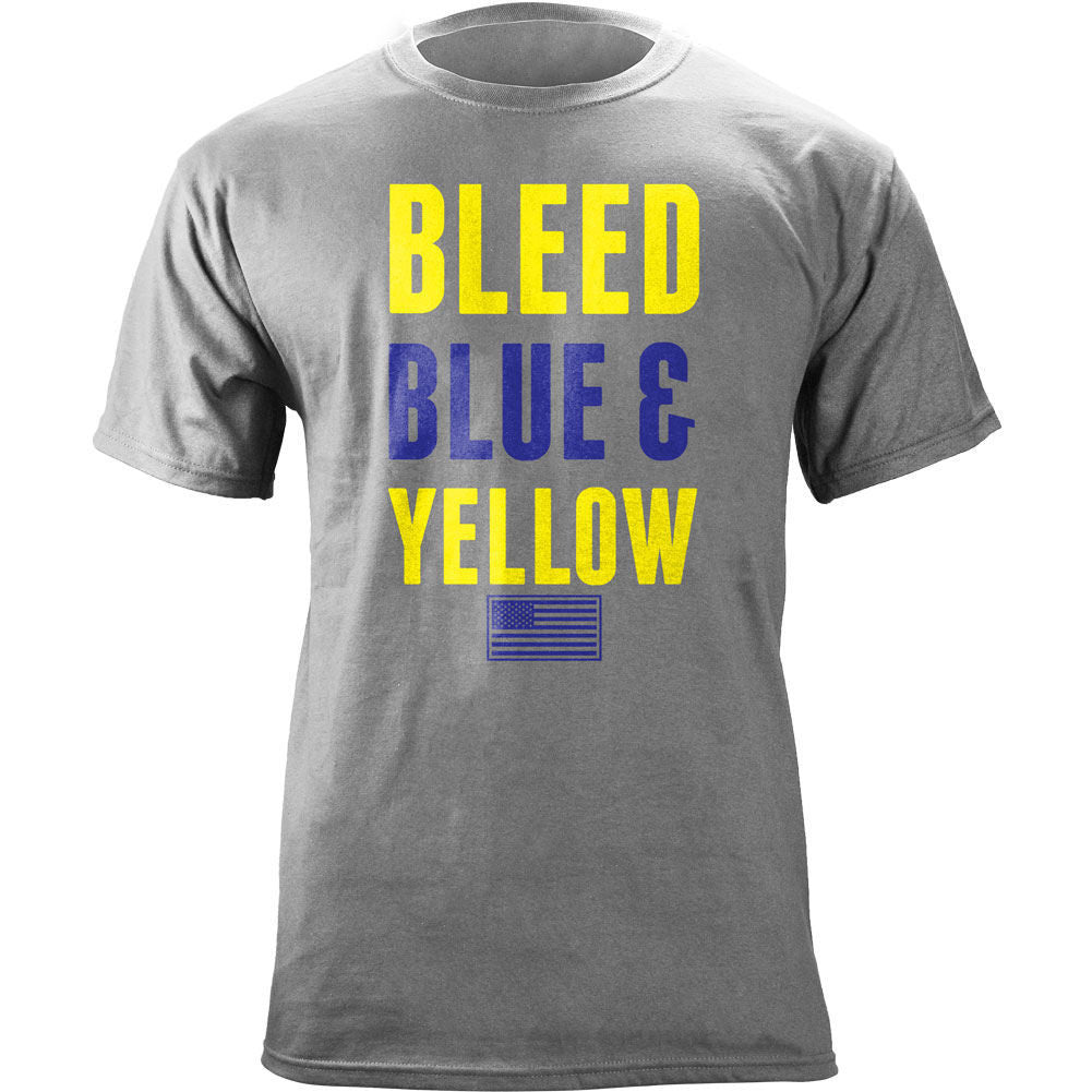 Air Force Bleed Blue and Yellow T-Shirt