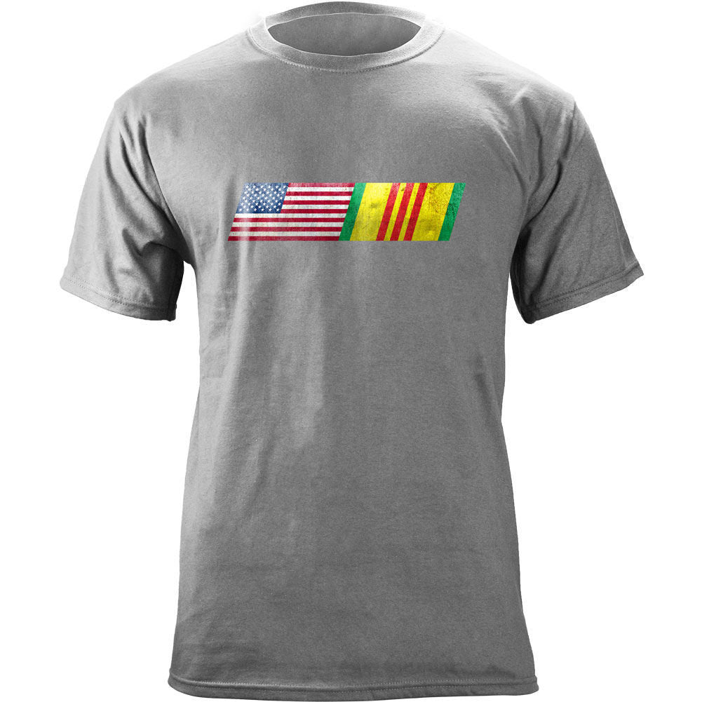 American Flag Vietnam Service Ribbon Blend T-Shirt