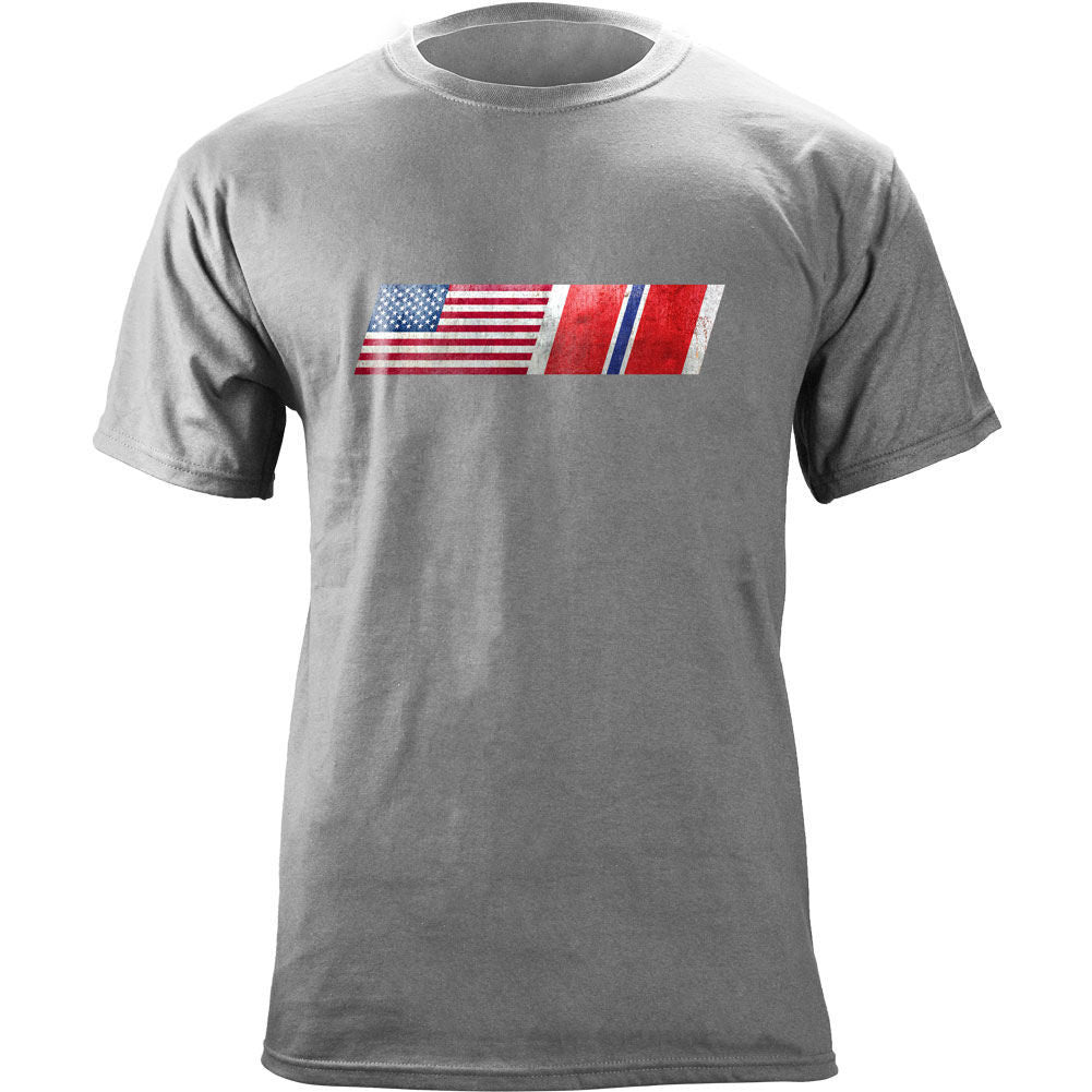 American Flag Bronze Star Ribbon Blend T-Shirt