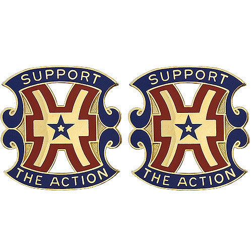 15th Support Brigade Unit Crest (Support the Action)