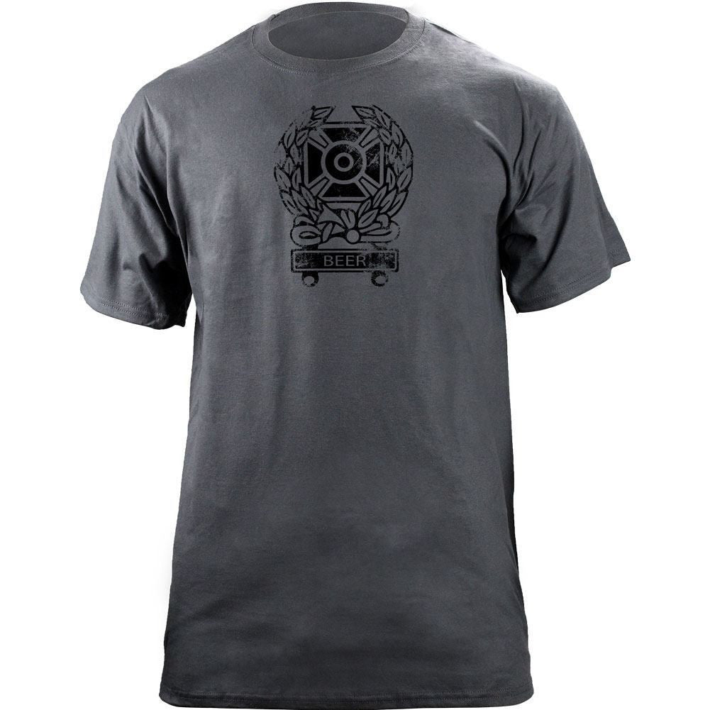Army Expert Qualification Beer Bar T-Shirt - Grey