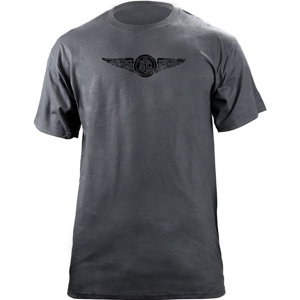 Navy Aircrew Subdued Badge T-Shirt Grey
