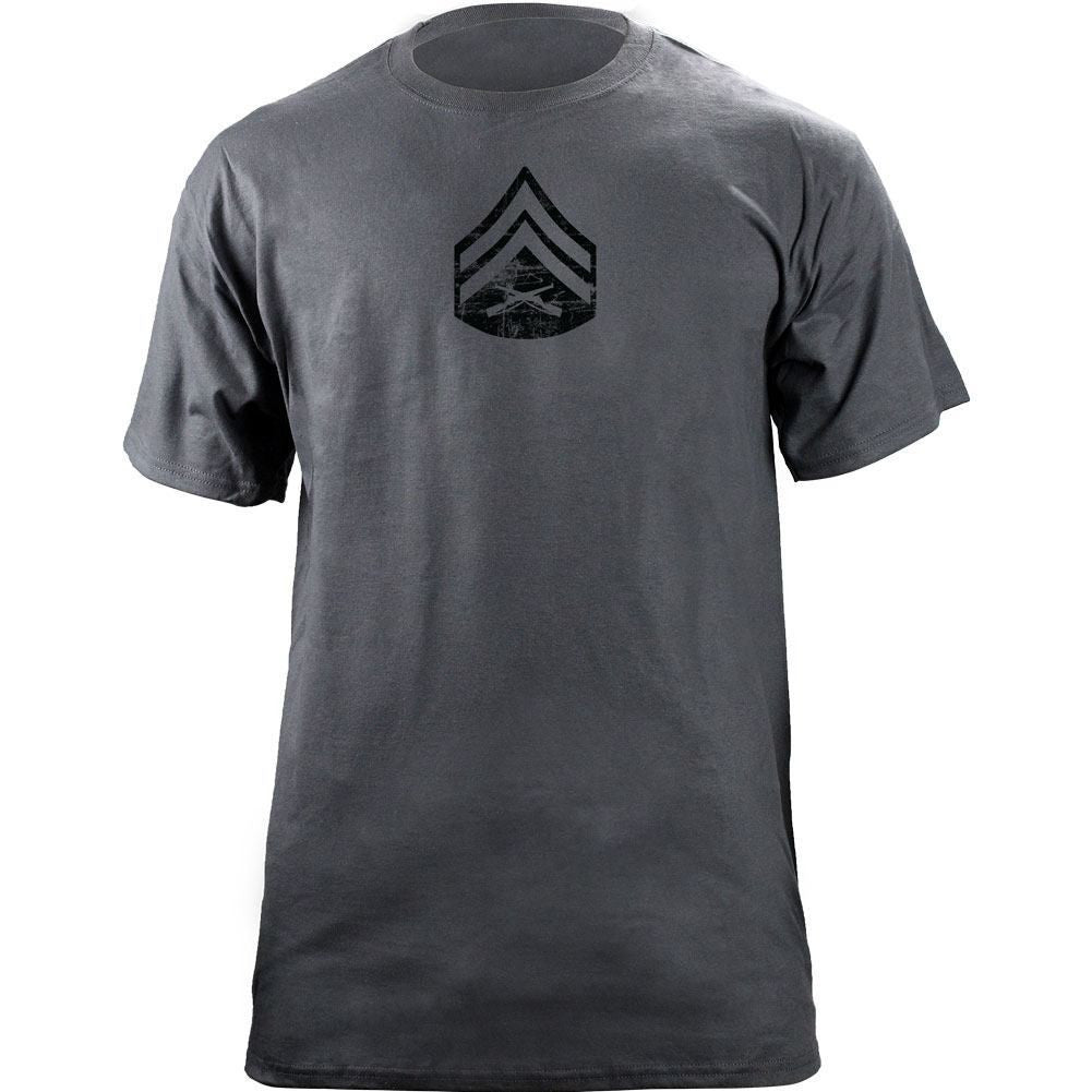 Marine Corps Rank Distressed T-Shirt - Grey -
