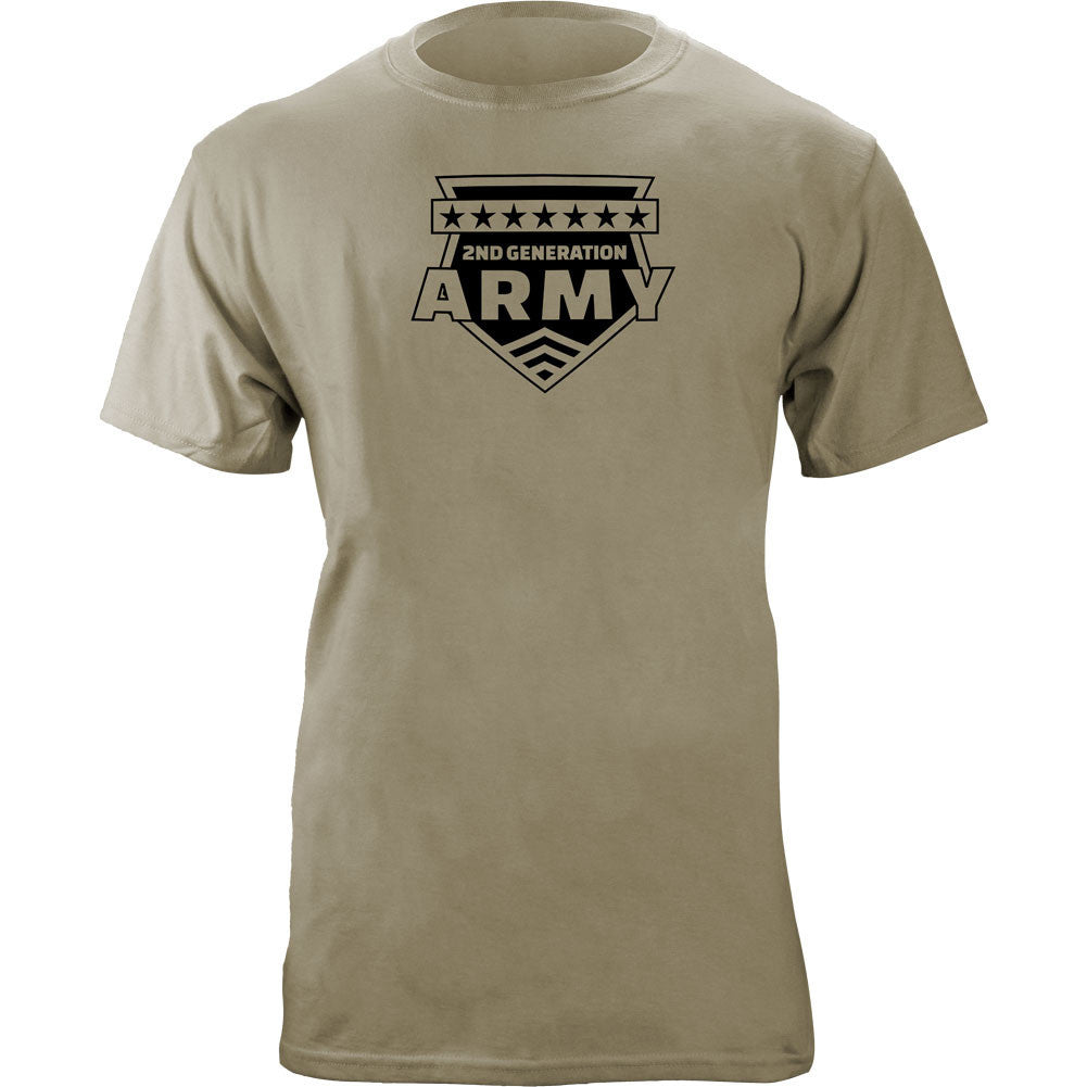 2nd Generation Army T-Shirt Sand Brown