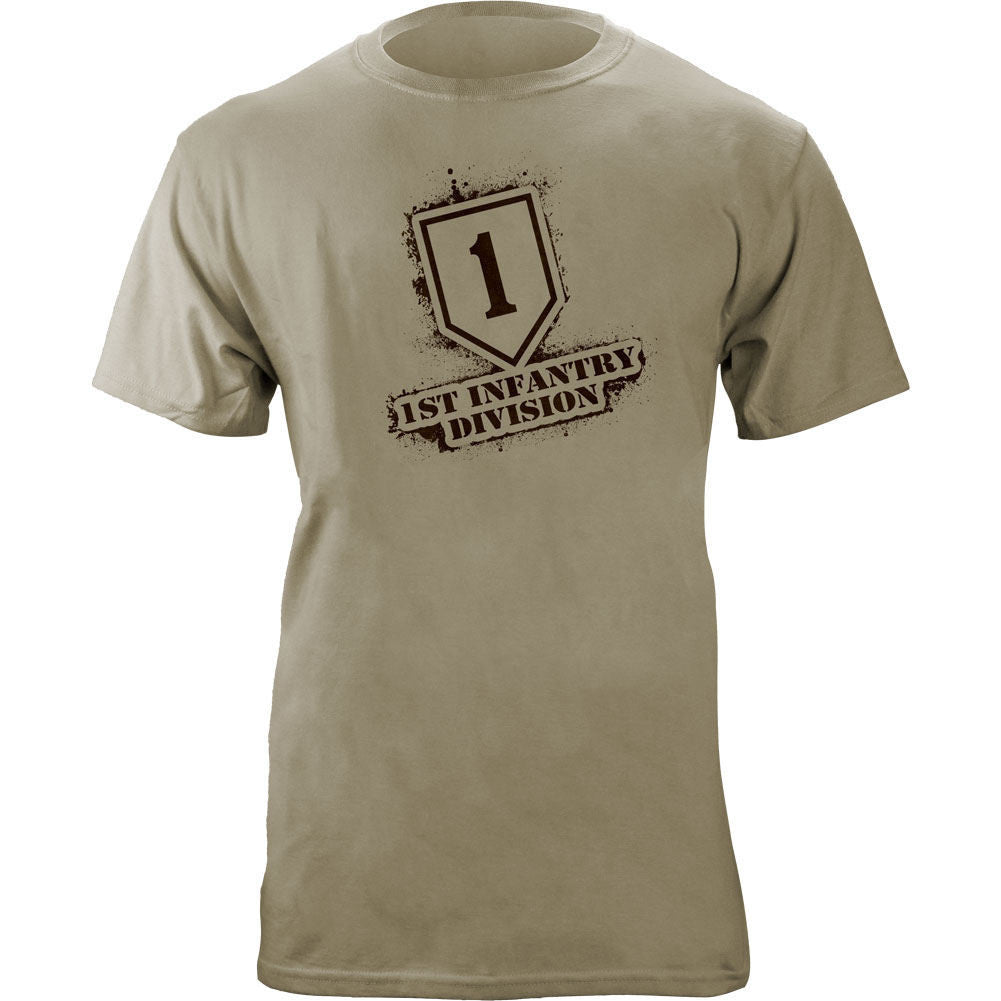 1st Infantry Division Stencil T-Shirt Sand Brown