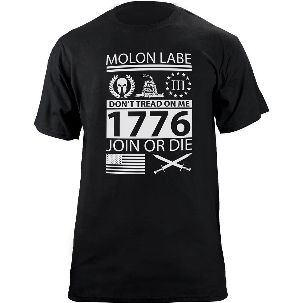 Molon Labe Ultimate Patriot T-Shirt Black