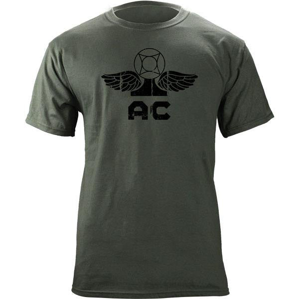 Navy Rating Badge Air Traffic Controller T-Shirt Foliage Green