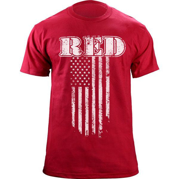 RED Flag Distressed T-Shirt