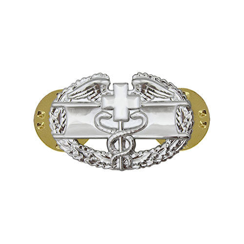 Army Miniature Combat Medical Badge 1st Award - Mirror / Chrome