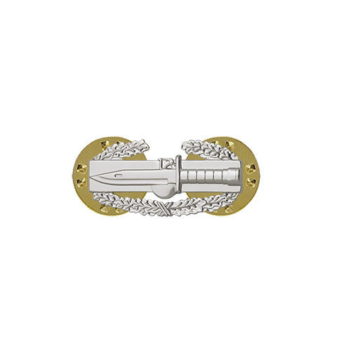 Army Miniature Combat Action Badge - Nickel Finish