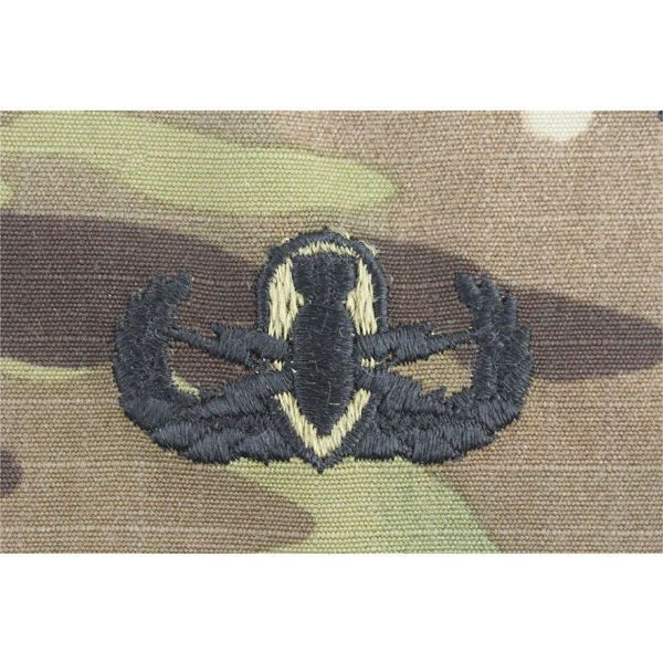 Army Explosive Ordnance Disposal (EOD) MultiCam (OCP) Embroidered Badges Basic