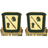 18th Cavalry Regiment Unit Crest (Velox Et Mortifer)