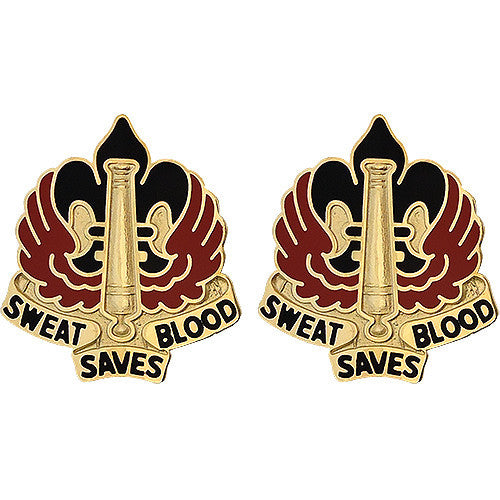18th Fires Brigade Unit Crest (Sweat Saves Blood)