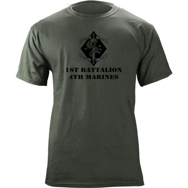 Subdued Marine Corps Unit T-Shirt 1st Btn 4th Marines
