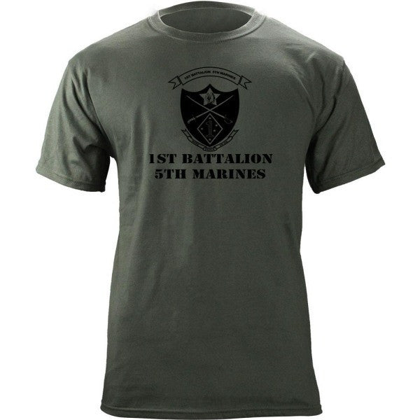 Subdued Marine Corps Unit T-Shirt 1st Btn 5th Marines