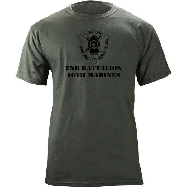 Subdued Marine Corps Unit T-Shirt 2nd Btn 10th Marines