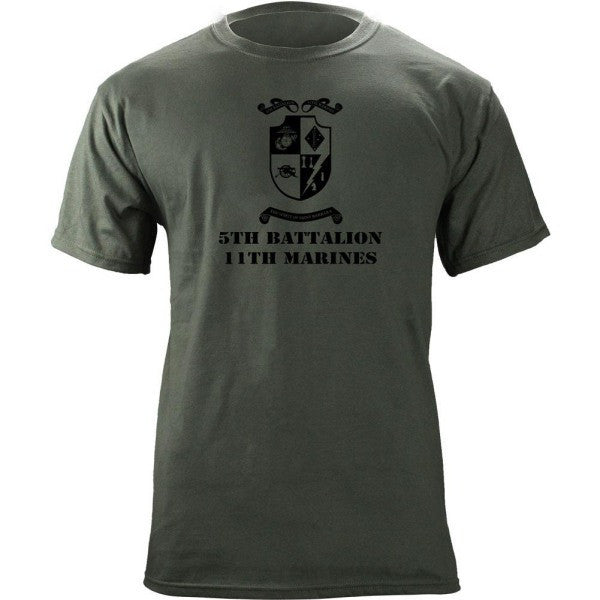 Subdued Marine Corps Unit T-Shirt 5th Btn 11th Marines