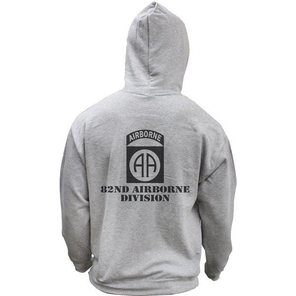 Army 82nd Airborne Subdued Veteran Pullover Hoodie Sweatshirt