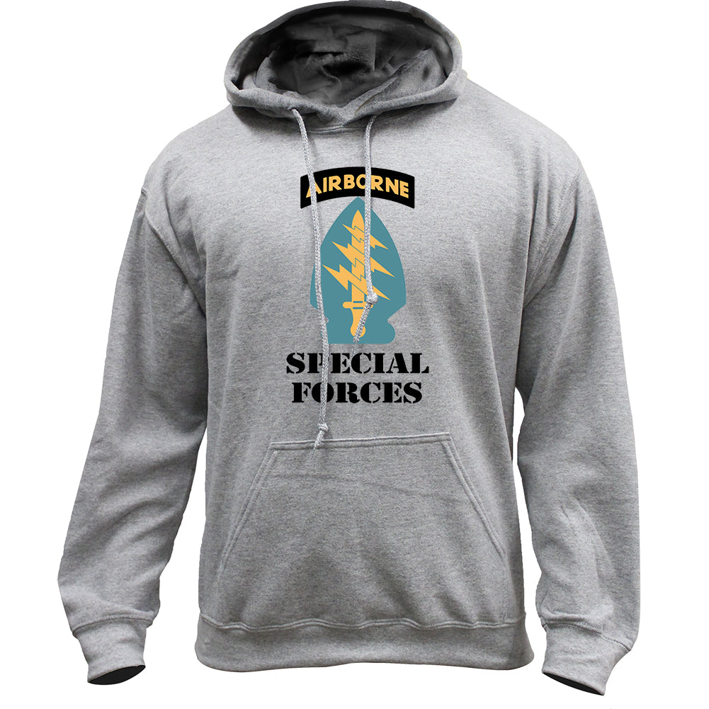 Army Special Forces Full Color Veteran Pullover Hoodie Sweatshirt