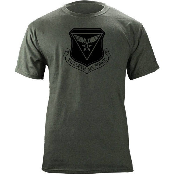 12th Air Force Subdued Patch T-Shirt