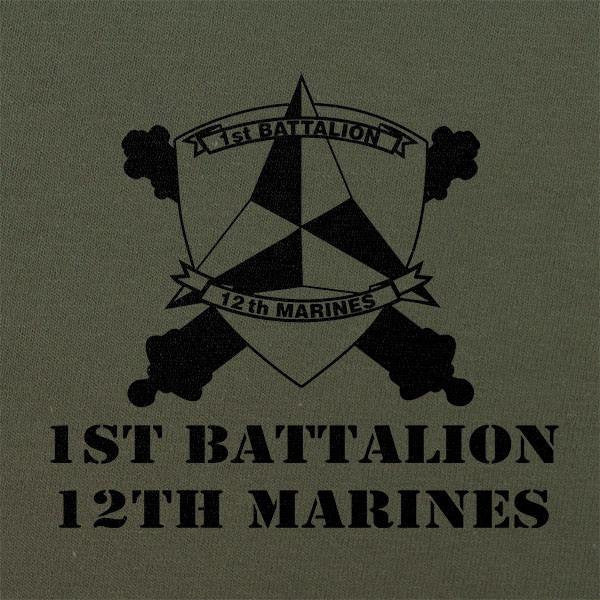 Subdued Marine Corps Unit T-Shirt 1st Btn 12th Marines