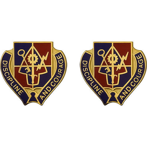 Special Troops Battalion, 1st Brigade, 2nd Infantry Division Unit Crest (Discipline and Courage)