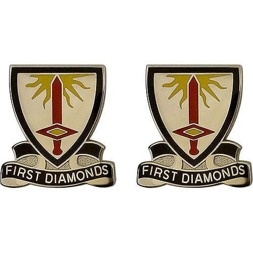 1st Finance Battalion Unit Crest (First Diamonds)