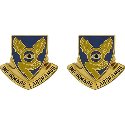 1st Military Intelligence Battalion Unit Crest (Informare Laboramus)