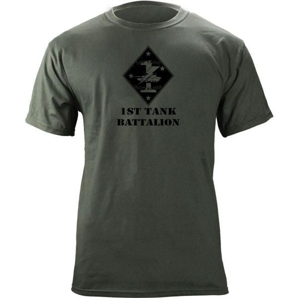 Subdued Marine Corps Unit T-Shirt 1st Tank Btn