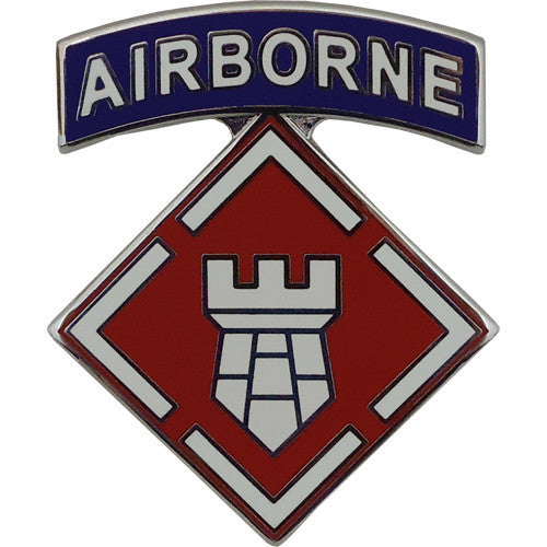 20th Engineer Brigade With Airborne Tab Combat Service Identification Badge