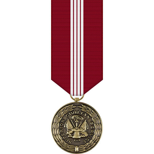 Army Superior Civilian Service Award Miniature Medal