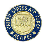 Air Force Retired Lapel Pin